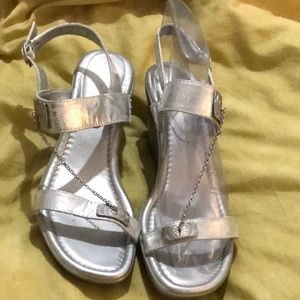 Shoes - Silver wedge sandals